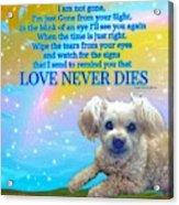 Tia Love Never Dies Acrylic Print