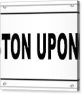 Kingston Upon Hull City Nameplate Acrylic Print