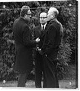 Kissinger And Le Duc Tho Talk Acrylic Print