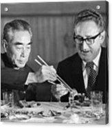 Kissinger Eating With Zhou Enlai Acrylic Print