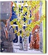 Kitchen Forsythia Acrylic Print