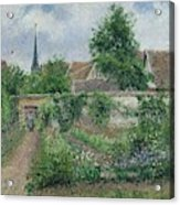 Kitchen Garden, Overcast Morning, Eragny, 1891  Acrylic Print