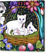 Kittens In A Basket Acrylic Print