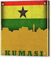 Kumasi Ghana World City Flag Skyline Acrylic Print