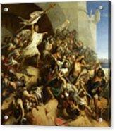La Defense De L'ile De Rhodes Par Foulques De Villaret Acrylic Print