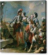 La Reina Zenobia Ante El Emperador Aureliano   Acrylic Print