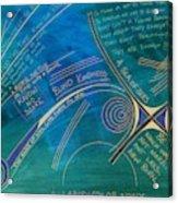 Labyrinth Of Words Acrylic Print