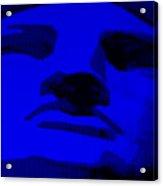 Lady Liberty In Blue Acrylic Print