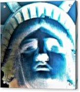 Lady Liberty In Negative Acrylic Print
