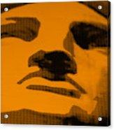 Lady Liberty In Orange Acrylic Print