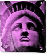Lady Liberty In Pink Acrylic Print