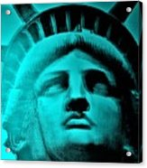 Lady Liberty In Turquoise Acrylic Print