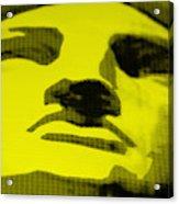 Lady Liberty In Yellow Acrylic Print