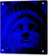 Lady Libery In Blue Acrylic Print
