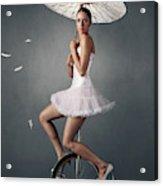 Lady On A Unicycle Acrylic Print