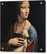 Lady With An Ermine, 1489 Acrylic Print