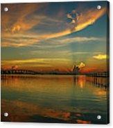 Lagoon Sunbeam Sunrise Acrylic Print