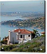 Laguna Beach Hilltop Homes Acrylic Print