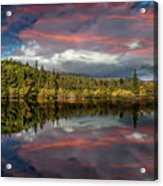 Lake Bodgynydd Sunset Acrylic Print