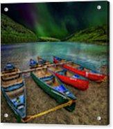 lake Geirionydd Canoes Acrylic Print