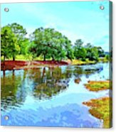 Lake Reflections On A Sunny Day Acrylic Print
