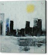 Lake Shore Misty Morn' Acrylic Print