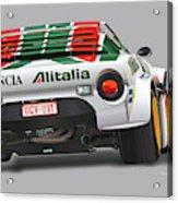Lancia Stratos Rear Acrylic Print