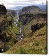 Landscape Of Canyon And River In Acrylic Print