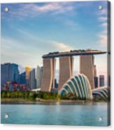 Landscape Of The Singapore Financial Acrylic Print