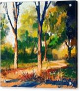 Landscape Painting Of Beautiful Summer Acrylic Print