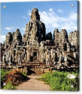 Landscape Photo Of Bayon Temple In Acrylic Print