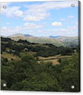 Landscape View From Little Langdale Acrylic Print