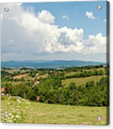 Landscape With Orchards Acrylic Print