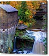 Lanterman's Mill In Fall Acrylic Print