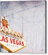 Las Vegas Sign Acrylic Print