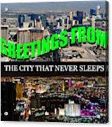 Las Vegas The City That Never Sleeps Custom Pc Acrylic Print