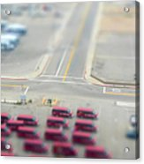 Lax Airport Parking Lot - Tilt Shift Acrylic Print