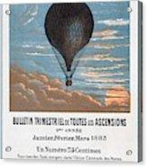 Le Ballon Aeronautical Journal, 1883 French Poster Acrylic Print
