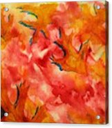 Leaf Shapes Emerging Acrylic Print