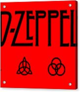 Led Zeppelin Z O S O - Transparent T-shirt Background Acrylic Print