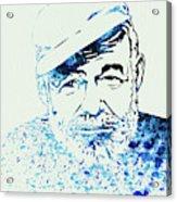 Legendary Hemingway Watercolor Acrylic Print
