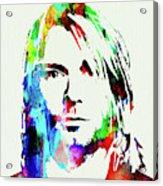 Legendary Kurt Cobain Watercolor Acrylic Print