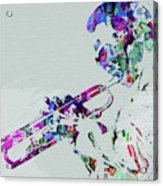 Legendary Miles Davis Watercolor Acrylic Print