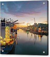 Leixoes Harbour Acrylic Print