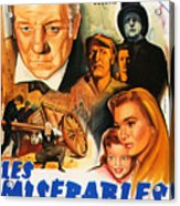 Les Miserables 1958 French Movie Classic Acrylic Print