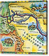 Lewis & Clark Expedition Map Acrylic Print