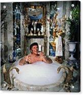 Liberace Taking A Bubble Bath Acrylic Print