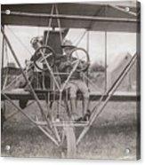 Lieutenant Geiger Sitting In Cockpit Acrylic Print