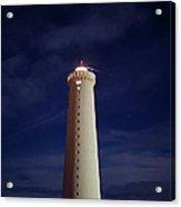Lighthouse Against Sky With Stars Acrylic Print