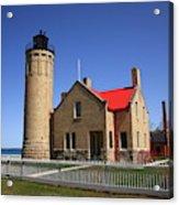 Lighthouse - Mackinac Point Michigan Acrylic Print